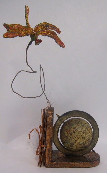 Channeled Map for Globe Skimmer Dragonfly
