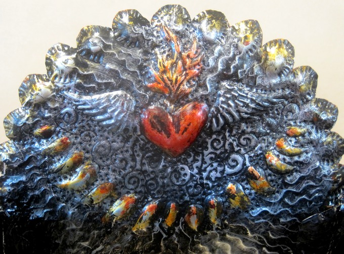 detail flaming heart